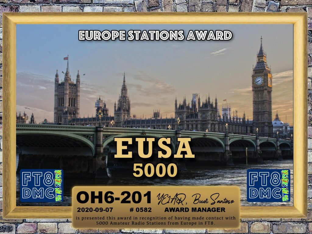 Award: Europe Stations Award – EUSA 5000